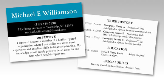 Resume Business Cards Staples Templates        Great Business     Eps zp